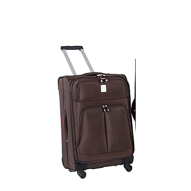 Jenni Chan Shanghai 25'' Upright Spinner Suitcase; Brown