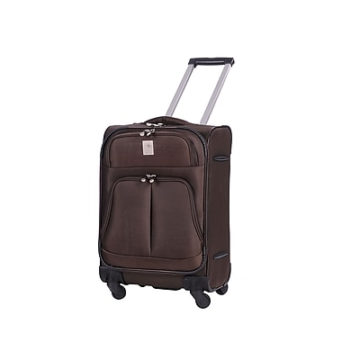 Jenni Chan Shanghai 21'' Upright Spinner Suitcase; Brown