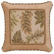 Jennifer Taylor Woodland Synthetic Square Pillow with Braid and Cord