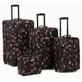 Rockland 4 Piece Luggage Set; Chocolate
