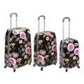 Rockland Vision 3 Piece Polycarbonate/ABS Spinner Luggage Set; Pucci