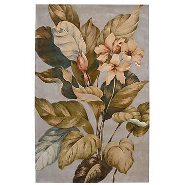 Nourison Tropics Brown/Tan Rug; 8' x 11'