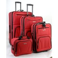 Rockland 4 Piece Luggage Set; Red
