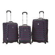 Rockland Fusion 3 Piece Monte Carlo Spinner Luggage Set; Icon