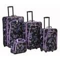 Rockland 4 Piece Luggage Set; Garden