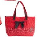 Jessie Steele Red Bandana Bow Tote Bag