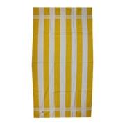 Kaufman Sales Joey Velour Stripe Beach Towel; Yellow / White