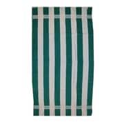 Kaufman Sales Joey Velour Stripe Beach Towel; Green / White
