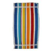 Kaufman Sales Joey Velour Stripe Beach Towel; Multi-Color
