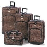 Zingz & Thingz 4 Piece Luggage Set; Brown