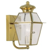 Livex Lighting Westover 1 Light Outdoor Wall Lighting; Polished Brass