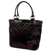 Little Earth NBA Sport Noir Quilted Tote Bag; Miami Heat