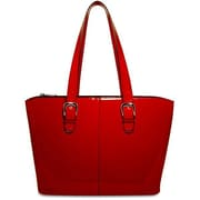 Jack Georges Patent Leather Madison Avenue Laptop Tote Bag; Red