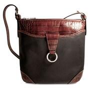 Jack Georges Venezia Serena Cross-Body Bag; Black/Brown