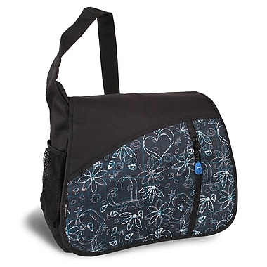 J World Messenger Bag; Love Black