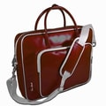 Ice Red Shine Glossy Laptop Briefcase; Red