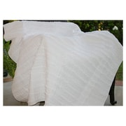 Greenland Home Fashions Cotton Ruffled Throw; White
