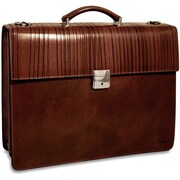 Jack Georges Monserrate Double Gusset Leather Briefcase
