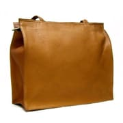 Le Donne Leather Simple Tote Bag; Tan