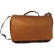 David King Leather Briefcase; Tan