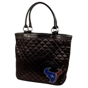 Little Earth NFL Sport Noir Quilted Tote Bag; Houston Texans