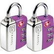 Go Travel Travel Sentry Twin Pad Lock (Set of 2); Purple