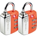 Go Travel Travel Sentry Twin Pad Lock (Set of 2); Orange