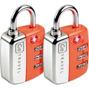 Go Travel Travel Sentry Twin Pad Lock (Set of 2); Orange