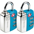 Go Travel Travel Sentry Twin Pad Lock (Set of 2); Blue