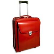 Jack Georges Milano Vertical Leather Laptop Briefcase; Red