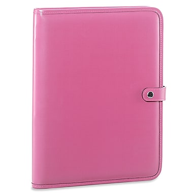 Jack Georges Milano Letter Size Writing Pad with Snap Closure; Pink