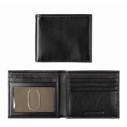 Johnston & Murphy Slimfold Wallet; Black Tumbled