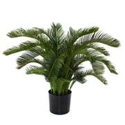 Flora Novara Artificial Sago Cycas Palm Desk Top Plant; 36'' H