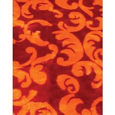 Walk On Me Modern Print Red/Orange Area Rug; 4'7'' x 6'7''