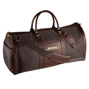 Andrew Philips 24'' Leather Metro Convertible Travel Duffel; Black