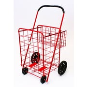 Trimmer Large Basket Shopping / Grocery Cart; Red