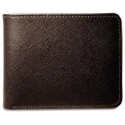 Jack Georges Prestige Bi-Fold Men's Wallet; Black