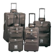 Preferred Nation High Voltage Upright 3 Piece Luggage Set; Brown