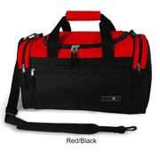 J World Copper 21'' Travel Duffel with Shoulder Strap; Red/Black