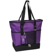 Everest Deluxe Shopper Tote Bag; Dark Purple/Black
