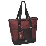 Everest Deluxe Shopper Tote Bag; Burgundy/Black
