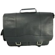 David King Leather Briefcase; Black