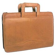 David King Single Leather Briefcase; Tan