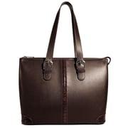 Jack Georges Prestige Madison Avenue Tote Bag; Brown