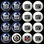 Imperial NFL Billiard Ball Set; New York Giants