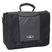 Everest Casual Laptop Briefcase; Charcoal/Black