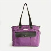 Clark & Mayfield Newport Laptop Tote Bag; Purple