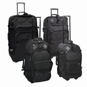 Preferred Nation Outdoor Gear Upright 4 Piece Luggage Set; Black