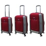 Ford Ford Flex 2 Series 3 Piece Expandable Hybrid Luggage Set; Burgundy