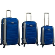 Ford Ford Flex Series 3 Piece Expandable Hybrid Luggage Set; Navy